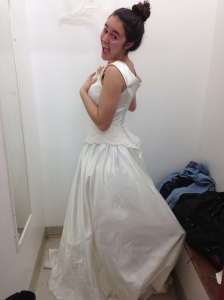 Day 6: Try on a wedding dress.