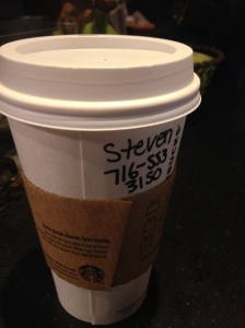 Day 41: Write my phone number on someone's cup.
