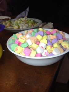 Day 45: Leave candy in the dining hall.