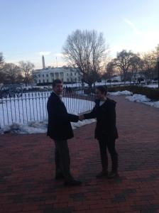 Meeting the senator.